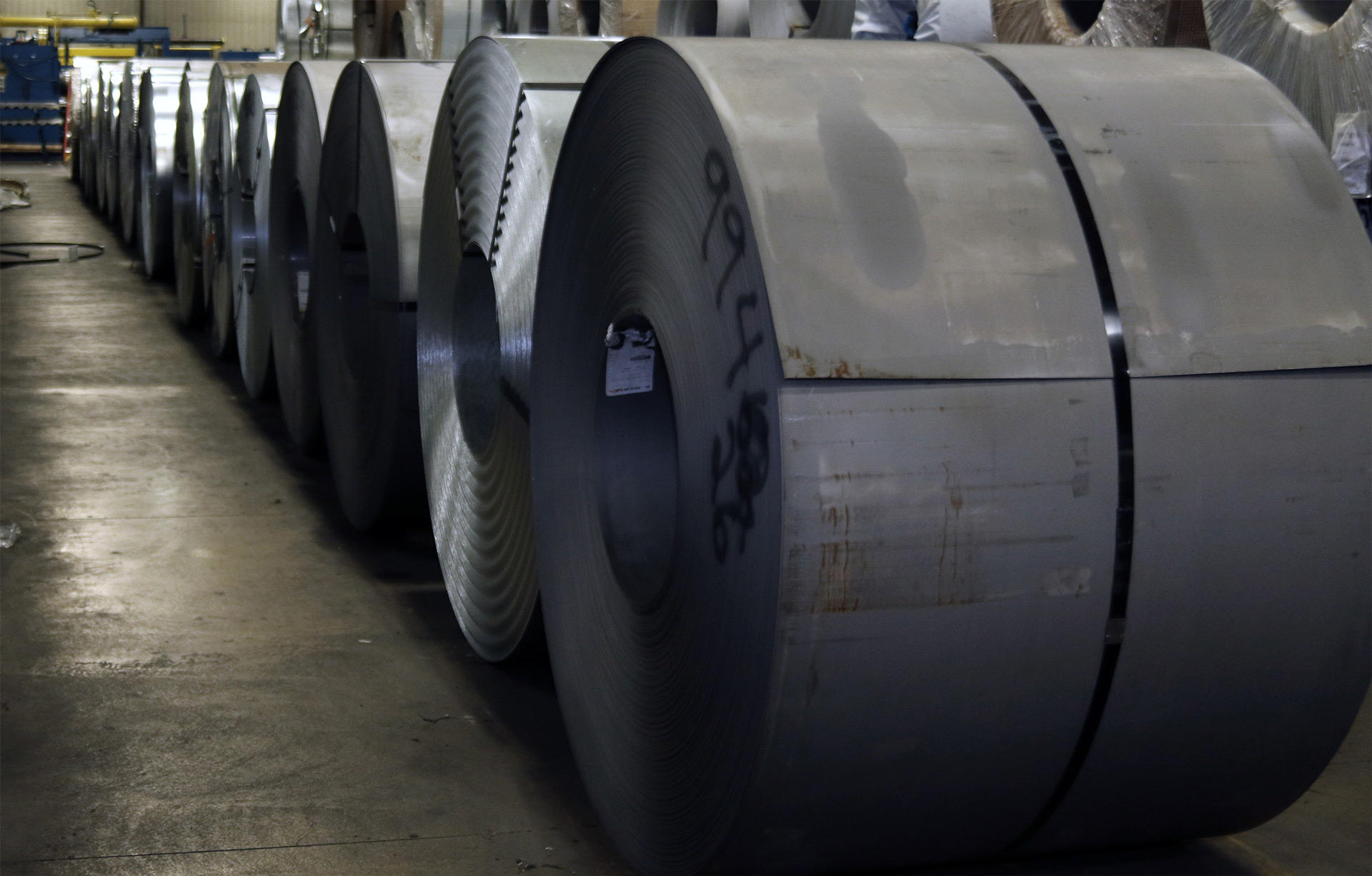 Rolls of steel at Tomson Steel